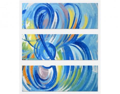 Tablouri set dual view - albastru muzical  Home sweet - Poza 1