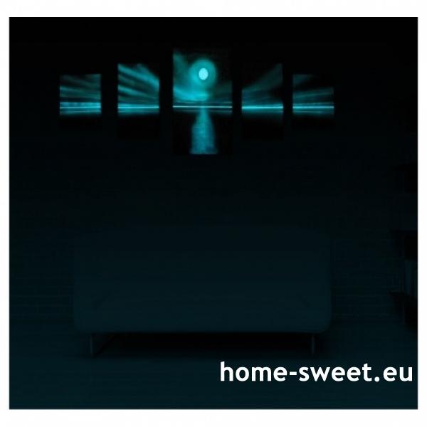 Tablouri set dual view - apus de soare Home sweet - Poza 2