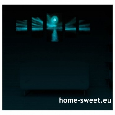 Tablouri set dual view - apus de soare Home sweet - Poza 2