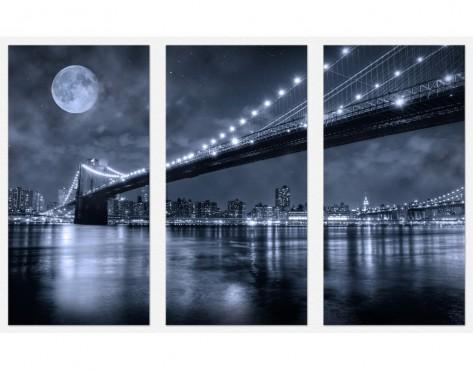 Tablouri set dual view orase - Brooklyn Home sweet - Poza 1