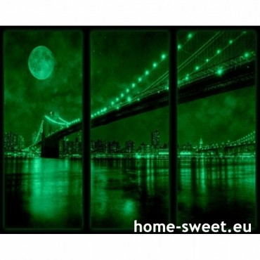 Tablouri set dual view orase - Brooklyn Home sweet - Poza 2