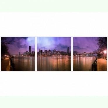 Tablouri set dual view orase - Manhattan Home sweet - Poza 1