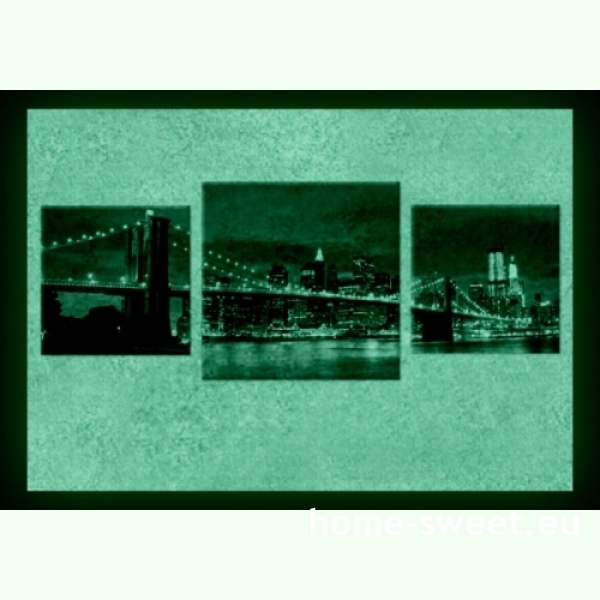 Tablouri set dual view orase - New York  Home sweet - Poza 2