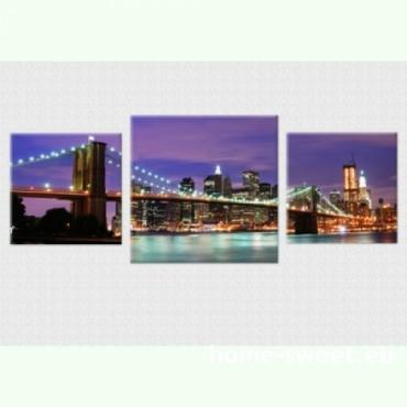 Tablouri set dual view orase - New York  Home sweet - Poza 1