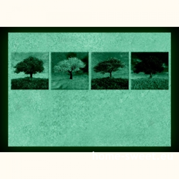 Tablouri set dual view - copaci patru anotimpuri  Home sweet - Poza 2