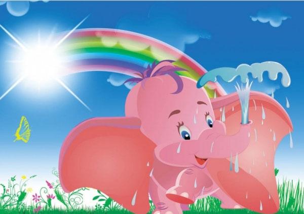 Tablouri copii dual view - elefantel pe camp Home sweet - Poza 1