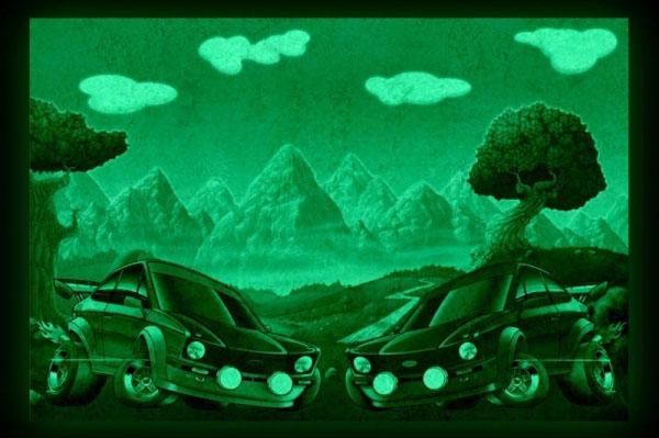 Tablouri copii dual view - masinute Home sweet - Poza 2