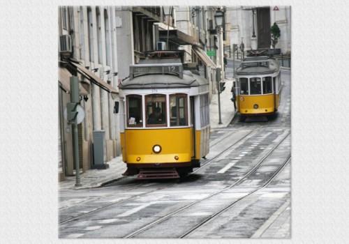 Tablouri dual view - trenul galben fara cai Home sweet - Poza 1