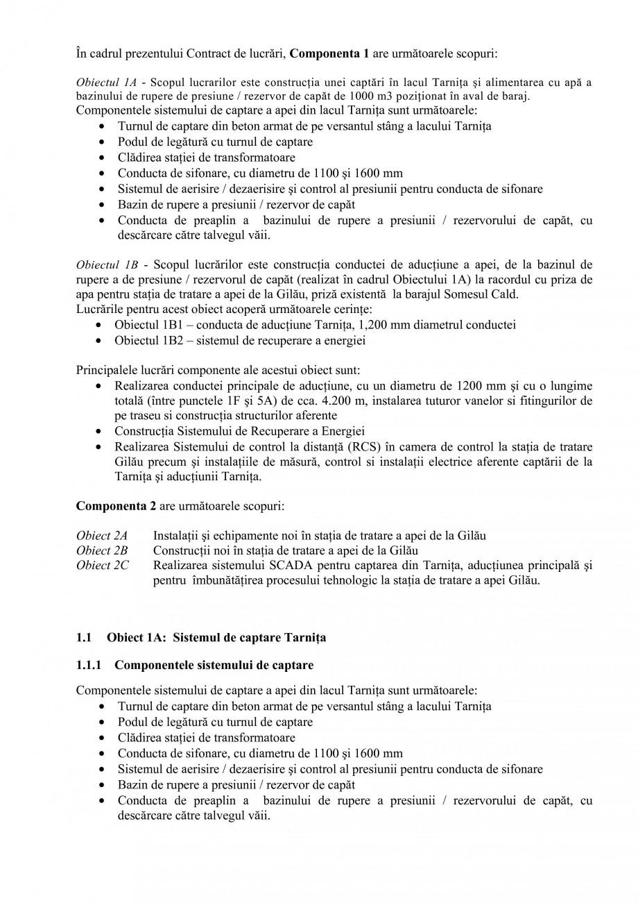 Pagina 2 - Proiect Hidrotehnic Complex - Prezentare ISPA Tarnita PIF 2009  Lucrari, proiecte Romana ...