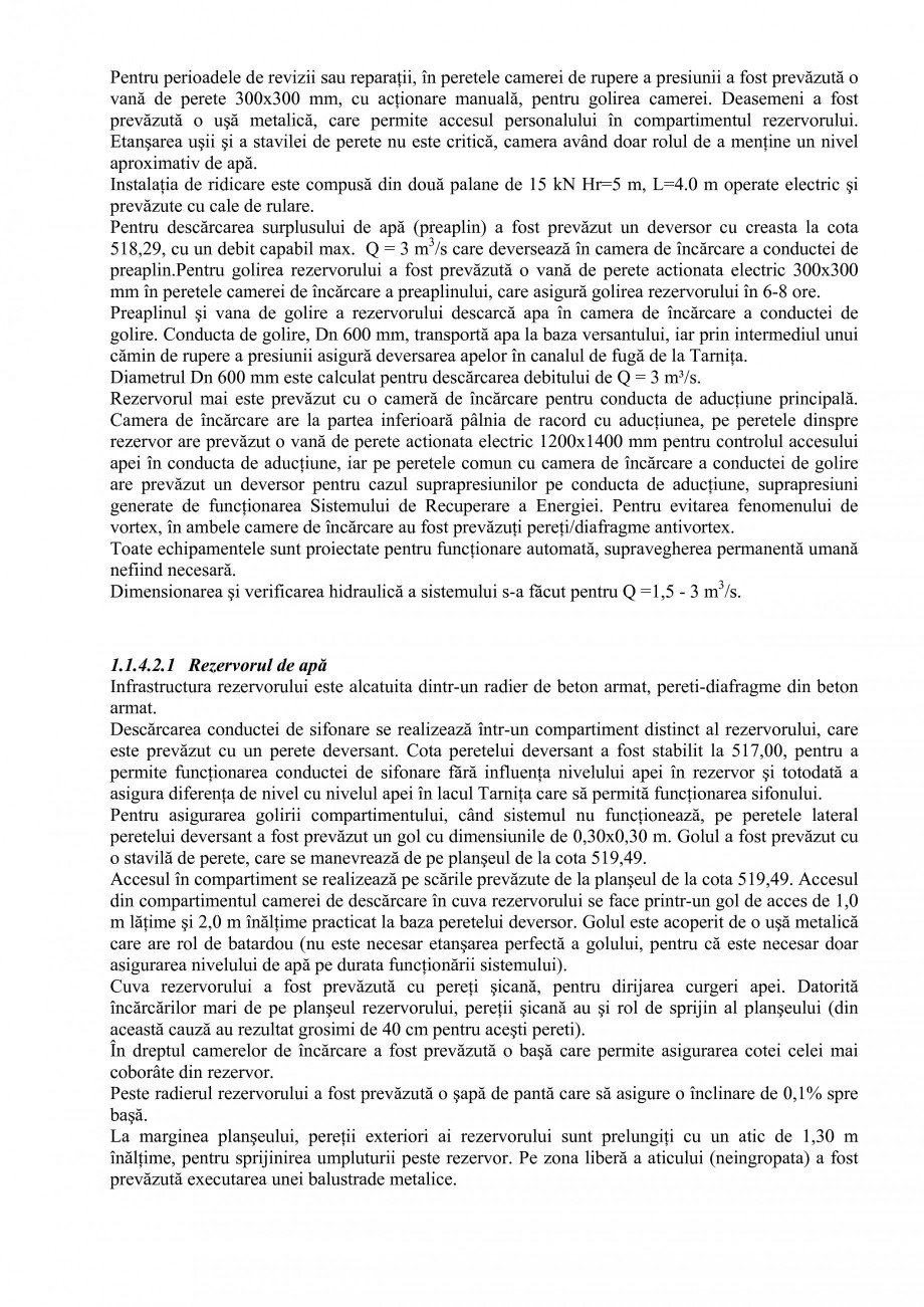 Pagina 7 - Proiect Hidrotehnic Complex - Prezentare ISPA Tarnita PIF 2009  Lucrari, proiecte Romana ...