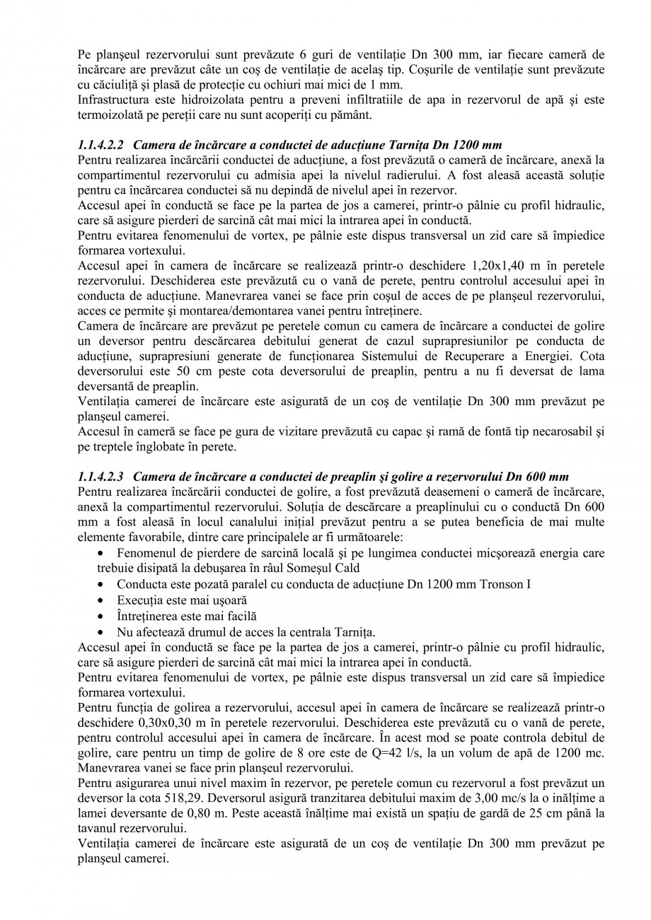 Pagina 8 - Proiect Hidrotehnic Complex - Prezentare ISPA Tarnita PIF 2009  Lucrari, proiecte Romana ...
