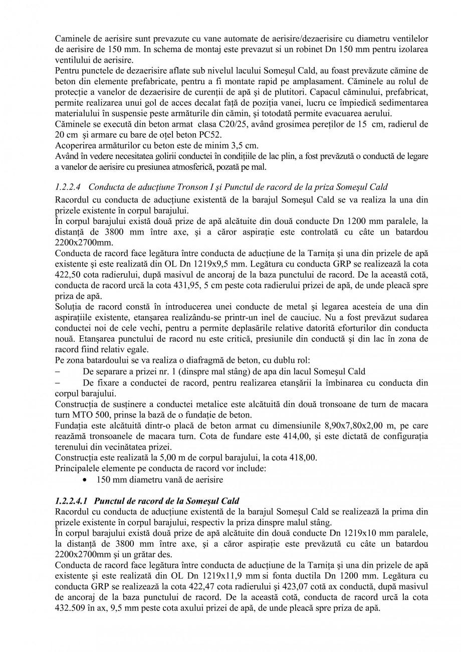 Pagina 15 - Proiect Hidrotehnic Complex - Prezentare ISPA Tarnita PIF 2009  Lucrari, proiecte Romana...