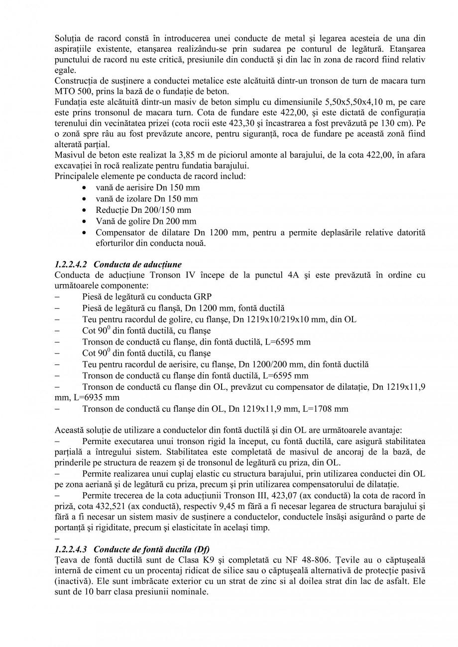 Pagina 16 - Proiect Hidrotehnic Complex - Prezentare ISPA Tarnita PIF 2009  Lucrari, proiecte Romana...
