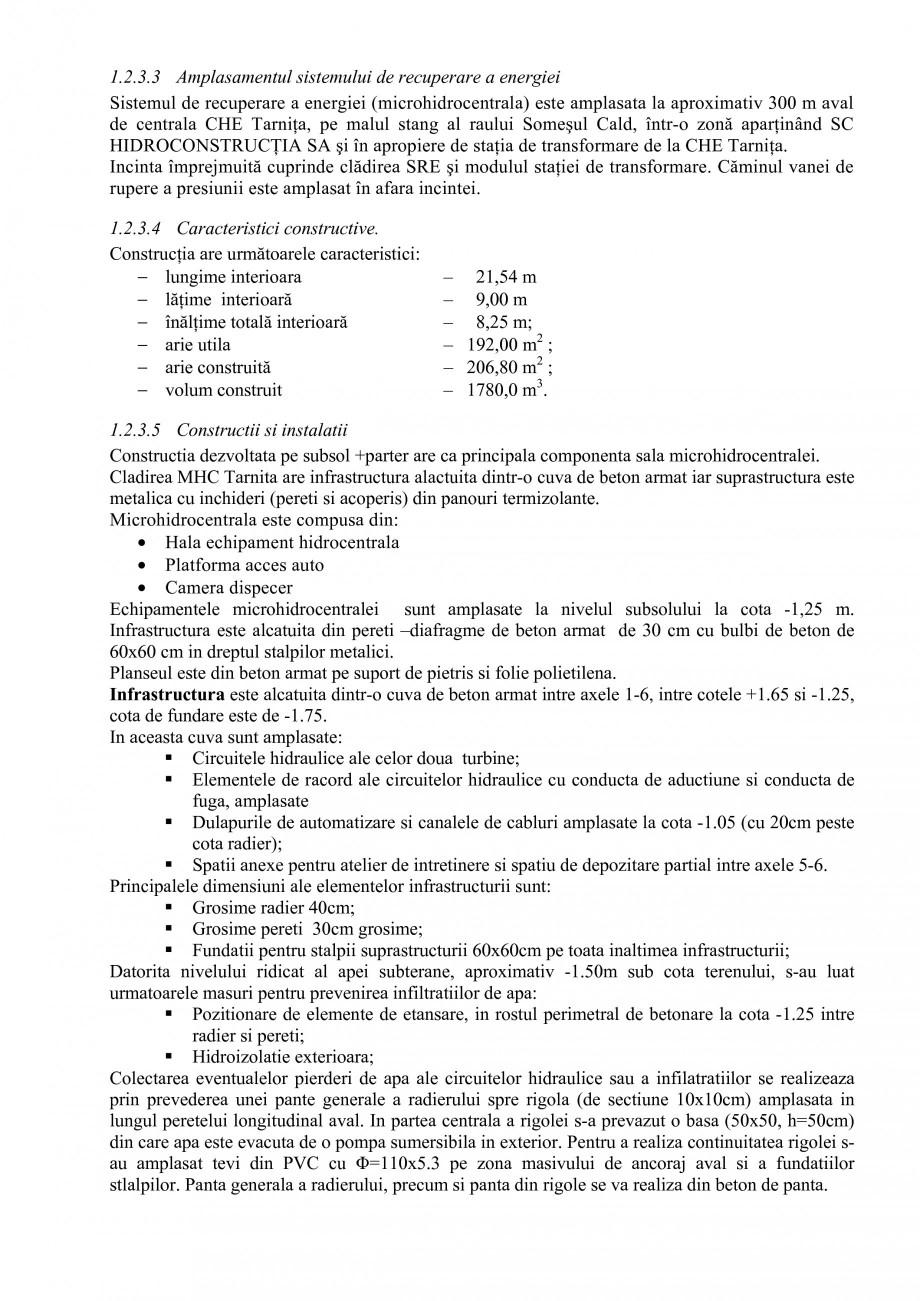Pagina 22 - Proiect Hidrotehnic Complex - Prezentare ISPA Tarnita PIF 2009  Lucrari, proiecte Romana...