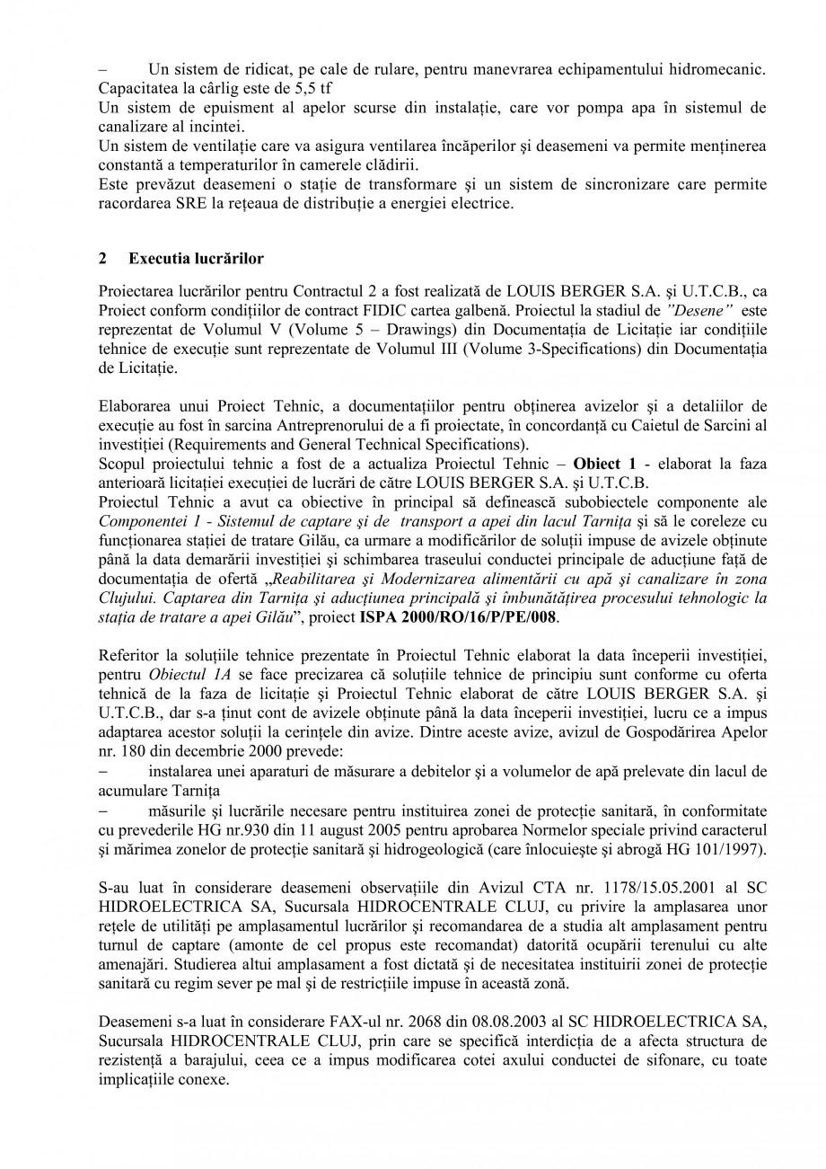 Pagina 24 - Proiect Hidrotehnic Complex - Prezentare ISPA Tarnita PIF 2009  Lucrari, proiecte Romana...