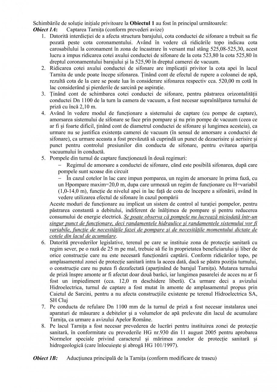 Pagina 25 - Proiect Hidrotehnic Complex - Prezentare ISPA Tarnita PIF 2009  Lucrari, proiecte Romana...
