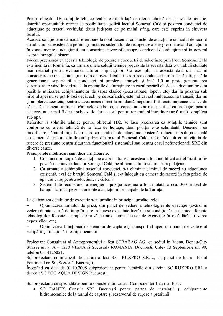 Pagina 26 - Proiect Hidrotehnic Complex - Prezentare ISPA Tarnita PIF 2009  Lucrari, proiecte Romana...