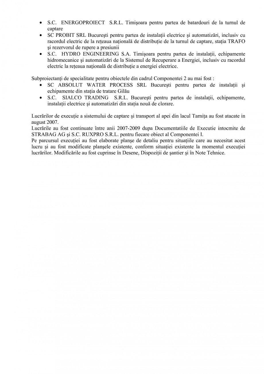 Pagina 27 - Proiect Hidrotehnic Complex - Prezentare ISPA Tarnita PIF 2009  Lucrari, proiecte Romana...