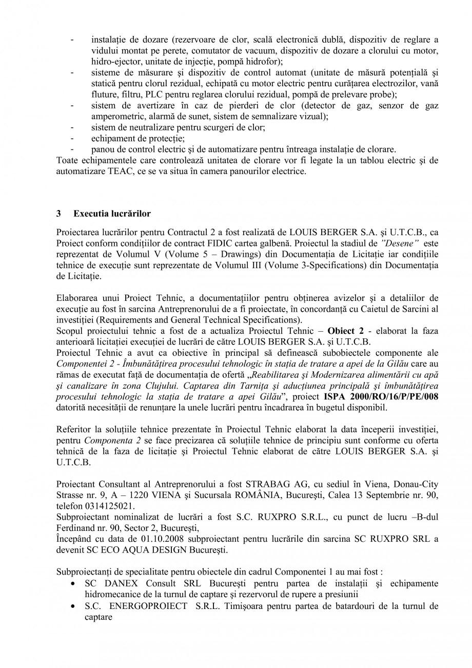 Pagina 38 - Proiect Hidrotehnic Complex - Prezentare ISPA Tarnita PIF 2009  Lucrari, proiecte Romana...