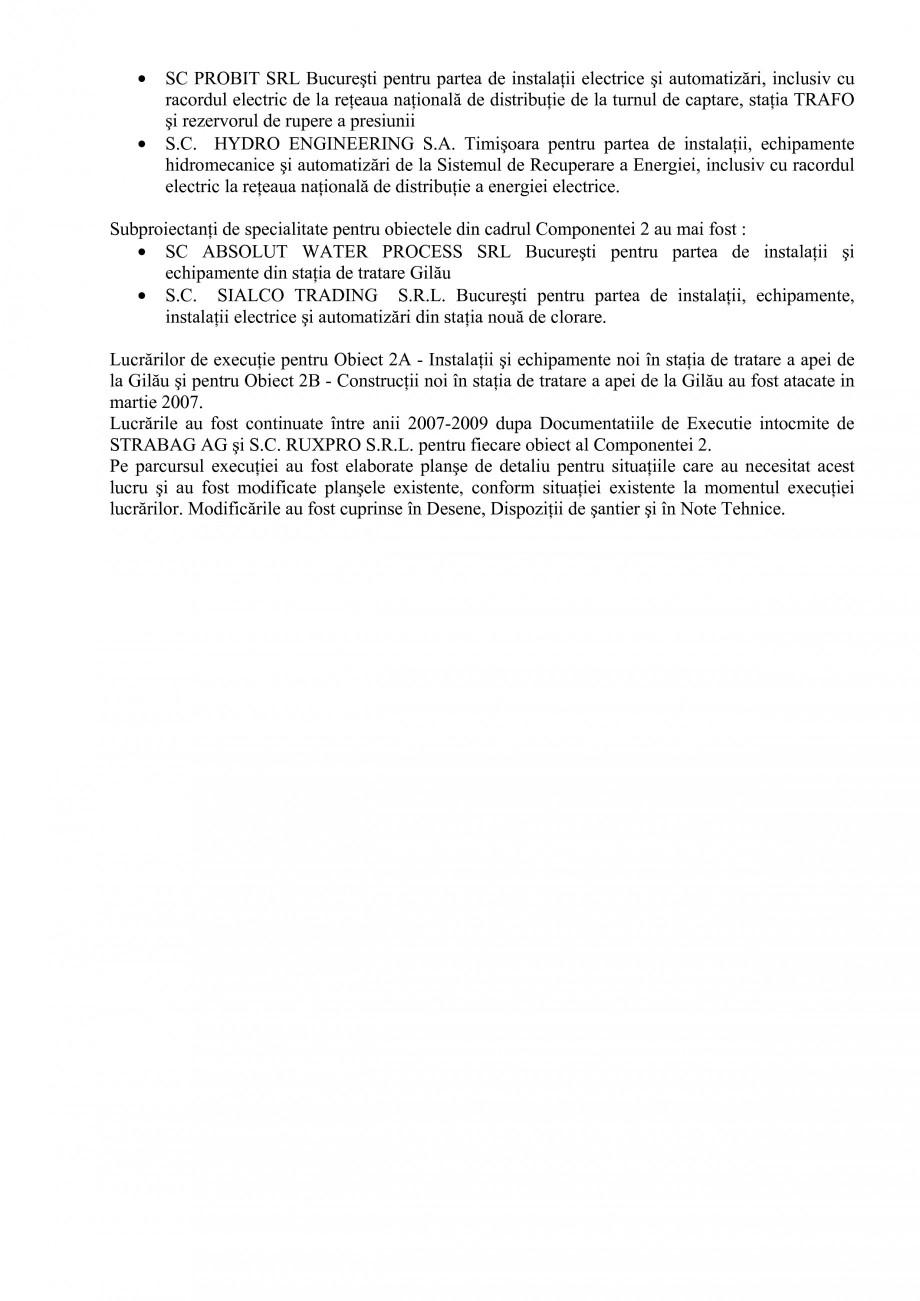 Pagina 39 - Proiect Hidrotehnic Complex - Prezentare ISPA Tarnita PIF 2009  Lucrari, proiecte Romana...