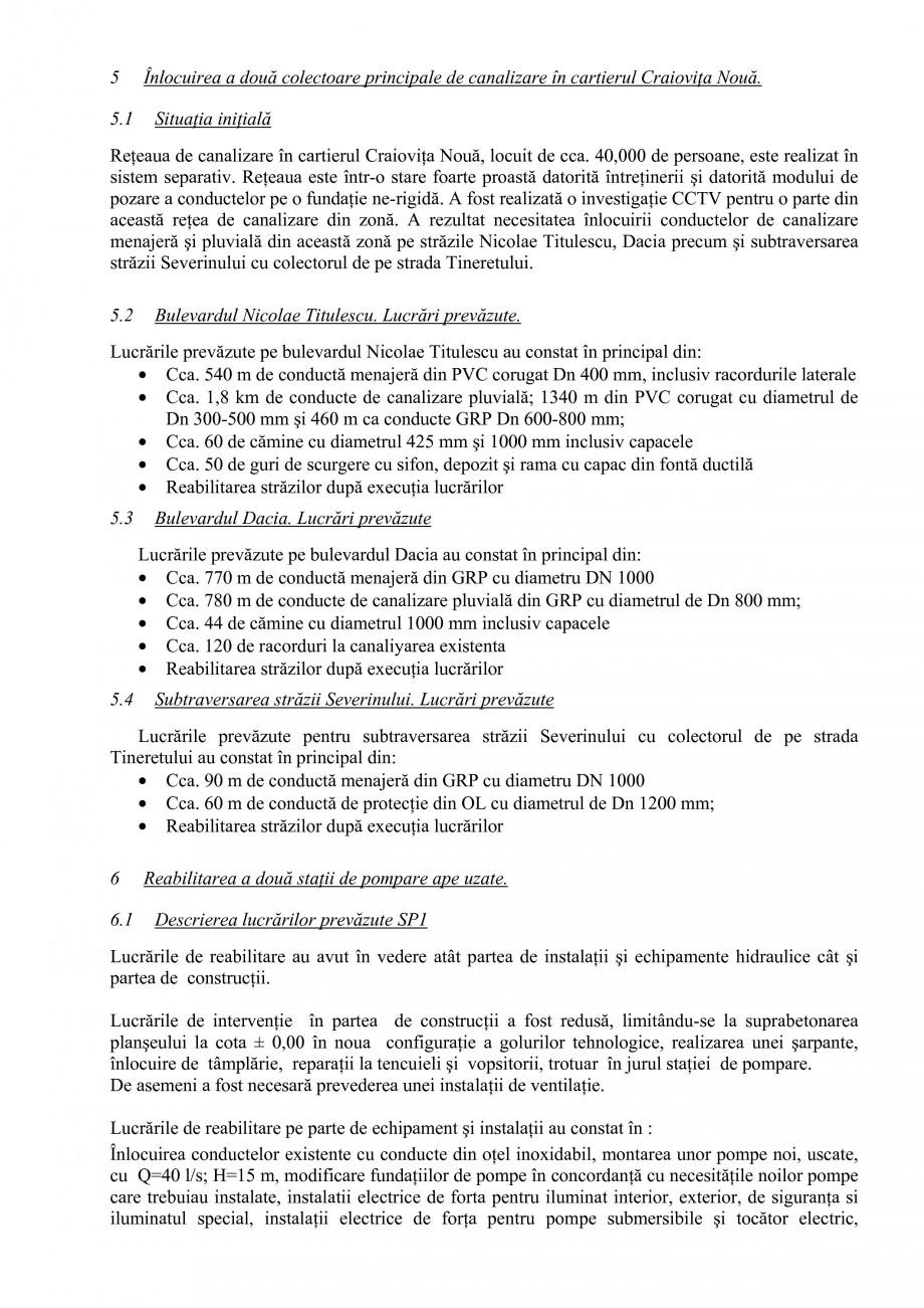 Pagina 6 - Alimentare cu apa si canalizare - Prezentare ISPA Craiova PIF 2009  Lucrari, proiecte...
