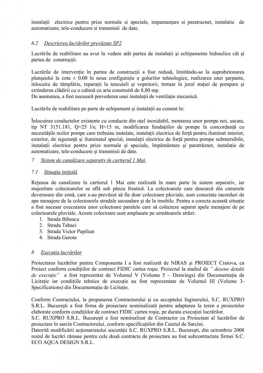 Pagina 7 - Alimentare cu apa si canalizare - Prezentare ISPA Craiova PIF 2009  Lucrari, proiecte...