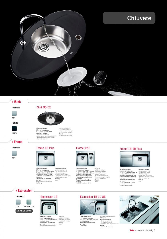 Pagina 1 - Chiuvete pentru bucatarie TEKA i-Sink 95 DX, Frame 1 1/2B 1D, FRAME 1B 1D Plus, Frame 1B ...