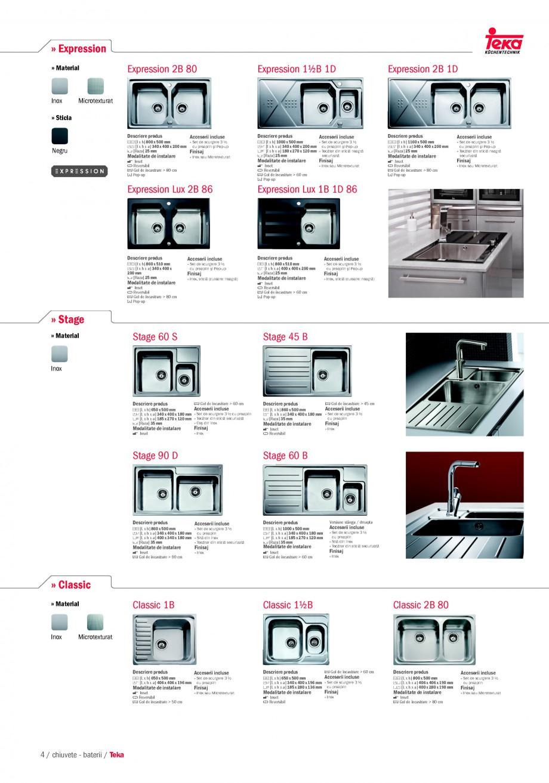 Pagina 2 - Chiuvete pentru bucatarie TEKA i-Sink 95 DX, Frame 1 1/2B 1D, FRAME 1B 1D Plus, Frame 1B ...