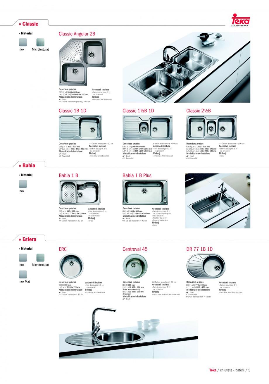 Pagina 3 - Chiuvete pentru bucatarie TEKA i-Sink 95 DX, Frame 1 1/2B 1D, FRAME 1B 1D Plus, Frame 1B ...