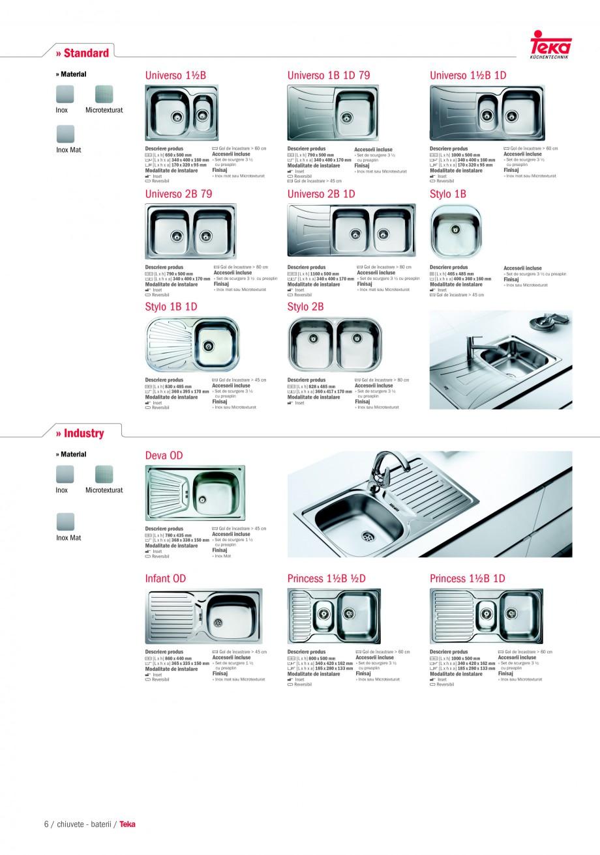 Pagina 4 - Chiuvete pentru bucatarie TEKA i-Sink 95 DX, Frame 1 1/2B 1D, FRAME 1B 1D Plus, Frame 1B ...
