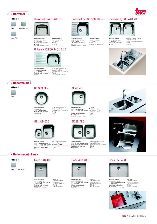 Pagina 5 - Chiuvete pentru bucatarie TEKA i-Sink 95 DX, Frame 1 1/2B 1D, FRAME 1B 1D Plus, Frame 1B ...