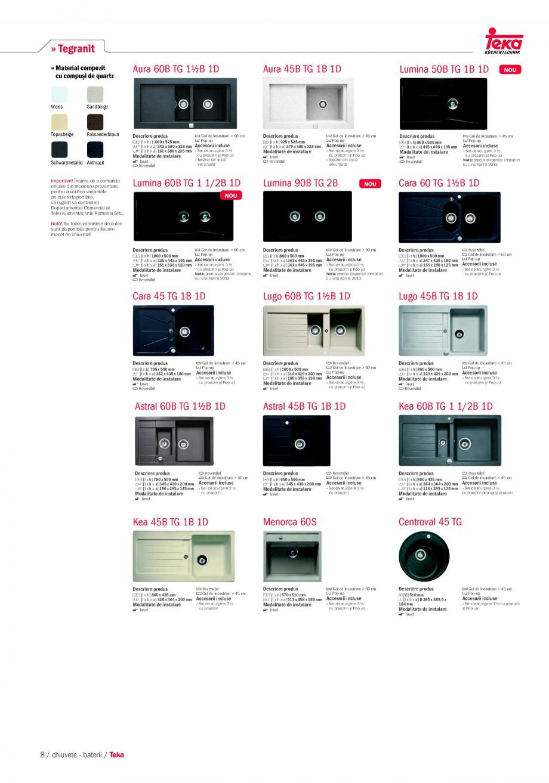 Pagina 6 - Chiuvete pentru bucatarie TEKA i-Sink 95 DX, Frame 1 1/2B 1D, FRAME 1B 1D Plus, Frame 1B ...