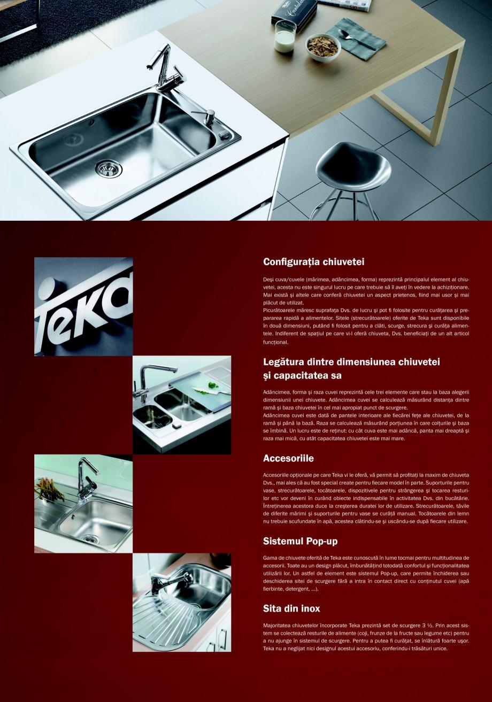 Pagina 7 - Chiuvete pentru bucatarie TEKA i-Sink 95 DX, Frame 1 1/2B 1D, FRAME 1B 1D Plus, Frame 1B ...