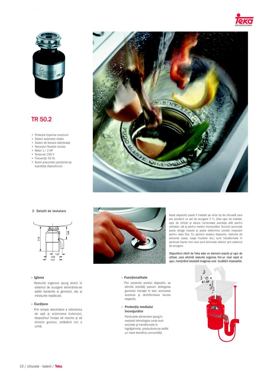Pagina 8 - Chiuvete pentru bucatarie TEKA i-Sink 95 DX, Frame 1 1/2B 1D, FRAME 1B 1D Plus, Frame 1B ...