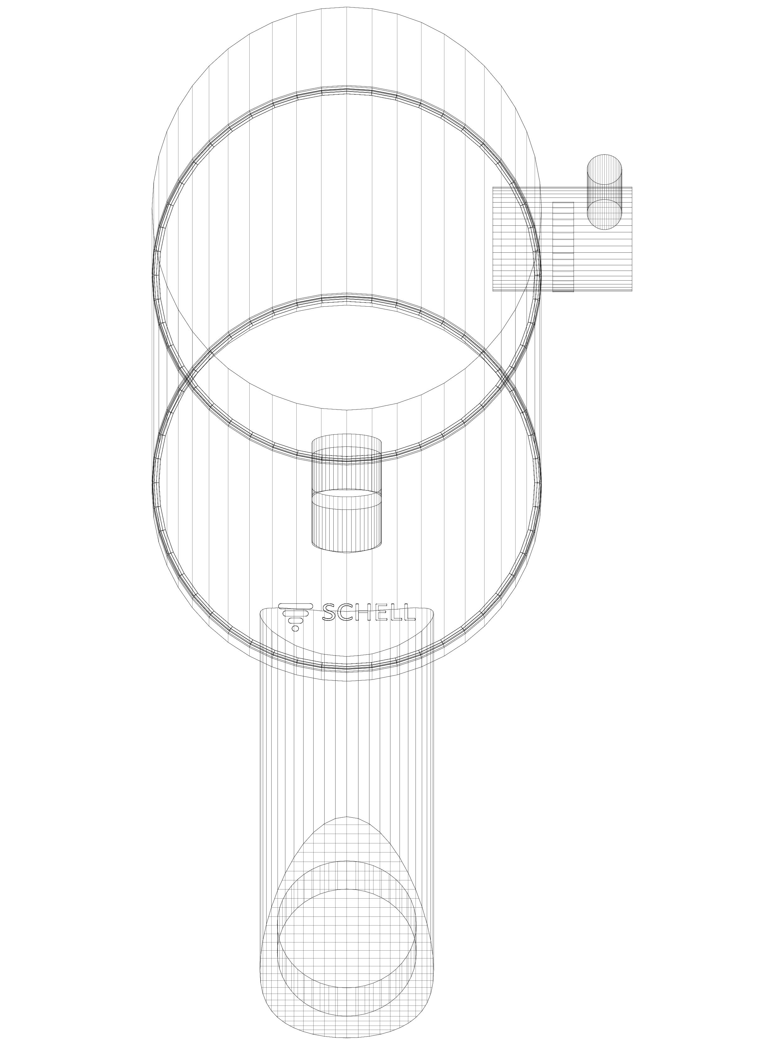 Pagina 1 - CAD-DWG Baterie cu senzor electronic pentru lavoar SCHELL Detaliu de produs PURIS E Tip...