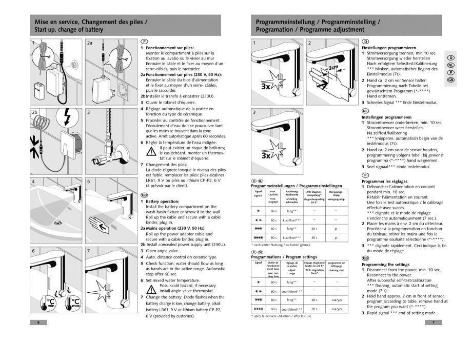 Pagina 4 - Baterie cu senzor electronic pentru lavoar SCHELL CELIS E Tip HD-K, CELIS E Tip HD-M ...