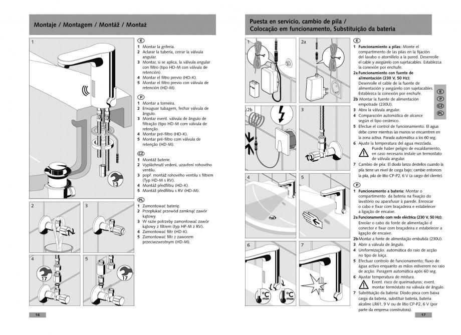 Pagina 9 - Baterie cu senzor electronic pentru lavoar SCHELL CELIS E Tip HD-K, CELIS E Tip HD-M ...