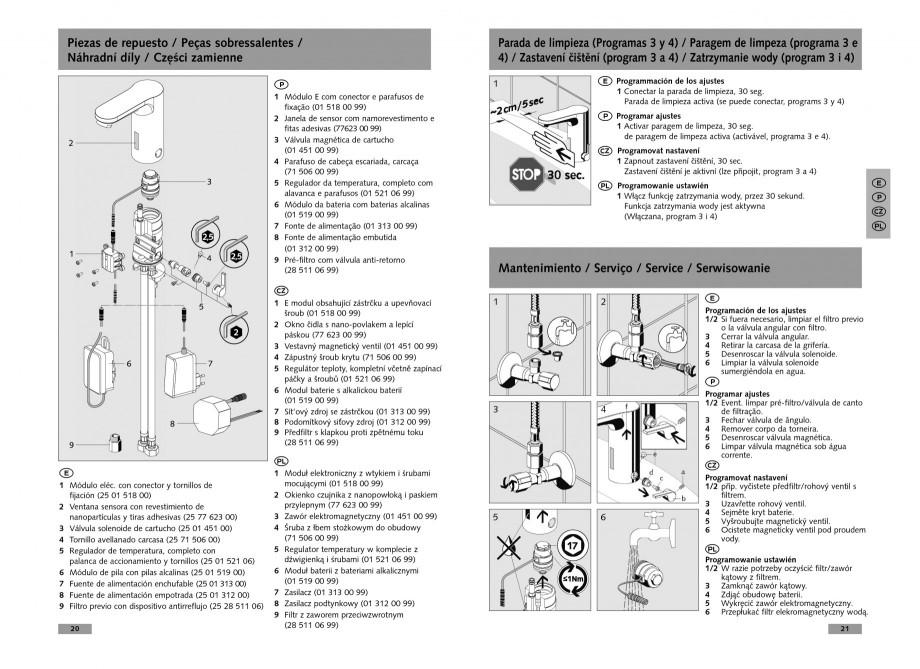 Pagina 11 - Baterie cu senzor electronic pentru lavoar SCHELL CELIS E Tip HD-K, CELIS E Tip HD-M ...