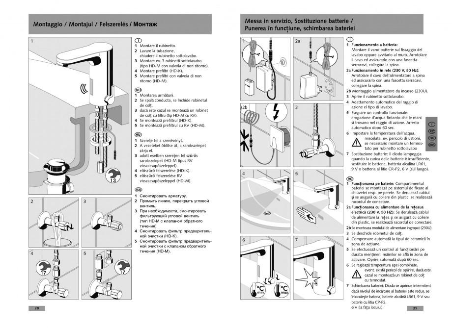 Pagina 15 - Baterie cu senzor electronic pentru lavoar SCHELL CELIS E Tip HD-K, CELIS E Tip HD-M ...