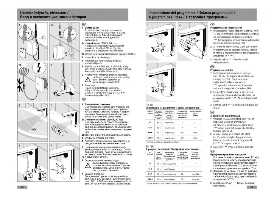 Pagina 16 - Baterie cu senzor electronic pentru lavoar SCHELL CELIS E Tip HD-K, CELIS E Tip HD-M ...