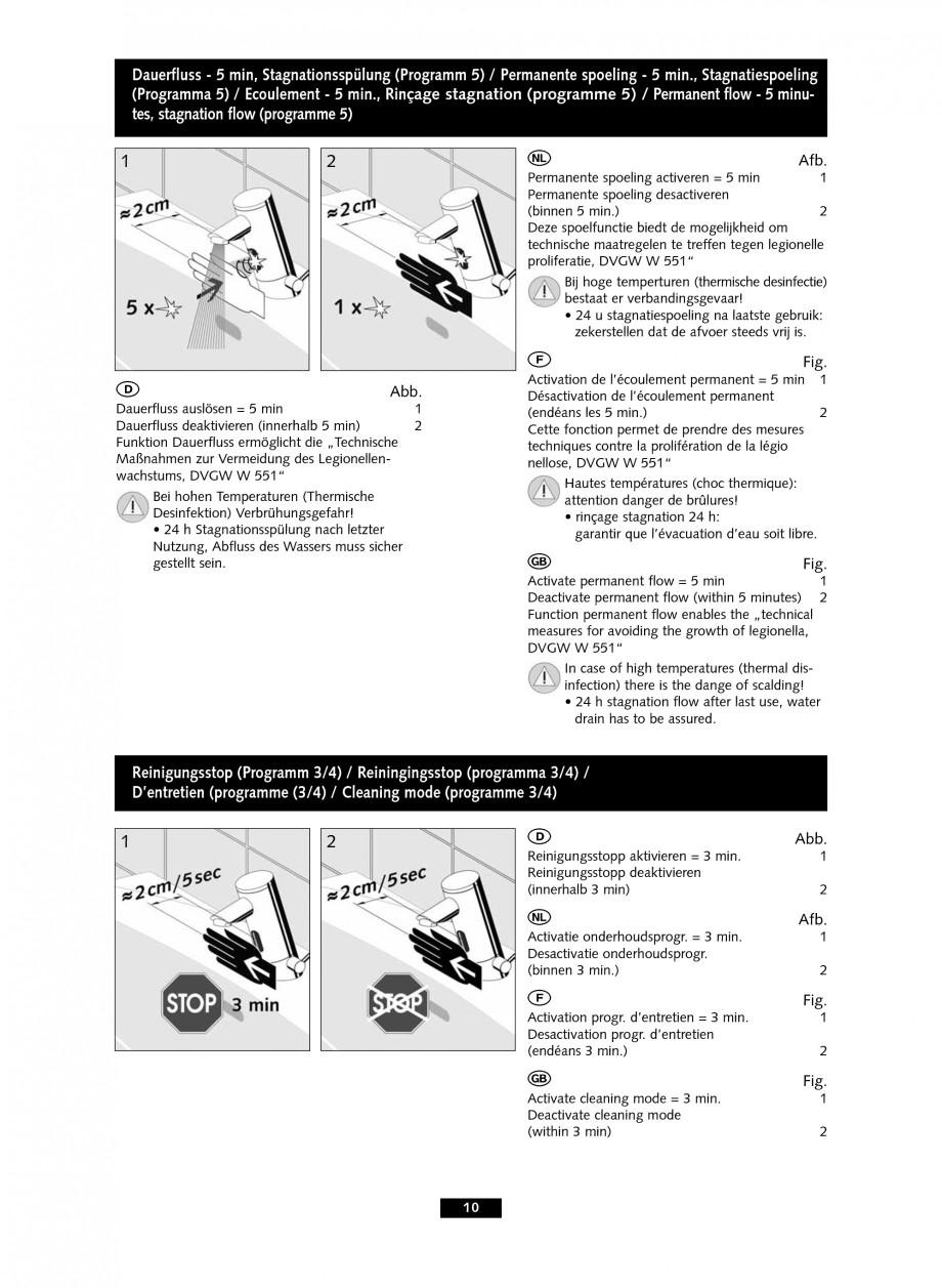 Pagina 10 - Baterie cu senzor electronic pentru lavoar SCHELL PURIS E Tip HD-K, PURIS E Tip HD-M,...
