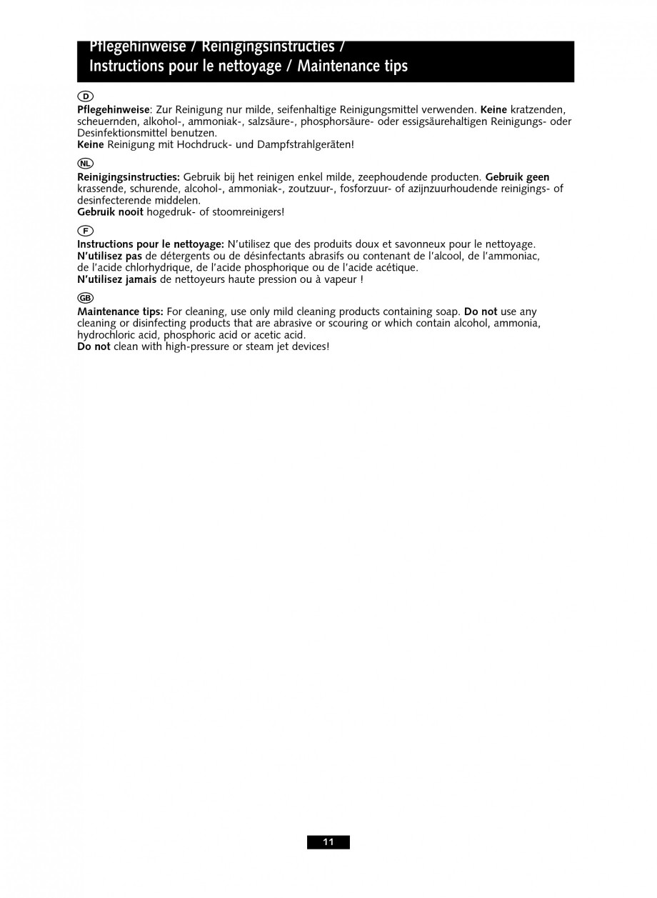Pagina 11 - Baterie cu senzor electronic pentru lavoar SCHELL PURIS E Tip HD-K, PURIS E Tip HD-M,...