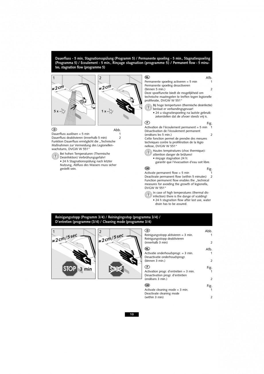 Pagina 10 - Baterie cu senzor electronic pentru lavoar SCHELL VENUS E Tip HD-K, VENUS E Tip HD-M,...