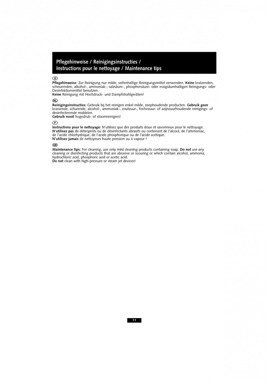 Pagina 11 - Baterie cu senzor electronic pentru lavoar SCHELL VENUS E Tip HD-K, VENUS E Tip HD-M,...