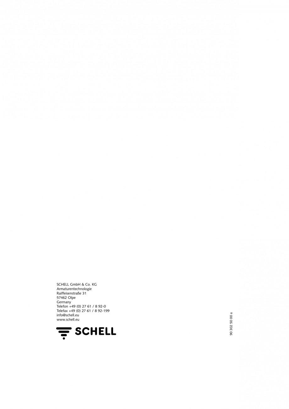 Pagina 12 - Baterie cu senzor electronic pentru lavoar SCHELL VENUS E Tip HD-K, VENUS E Tip HD-M,...