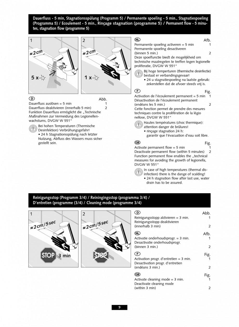 Pagina 9 - Baterii cu senzor electronic pentru lavoare - alimentate de la retea SCHELL PURIS E Tip...