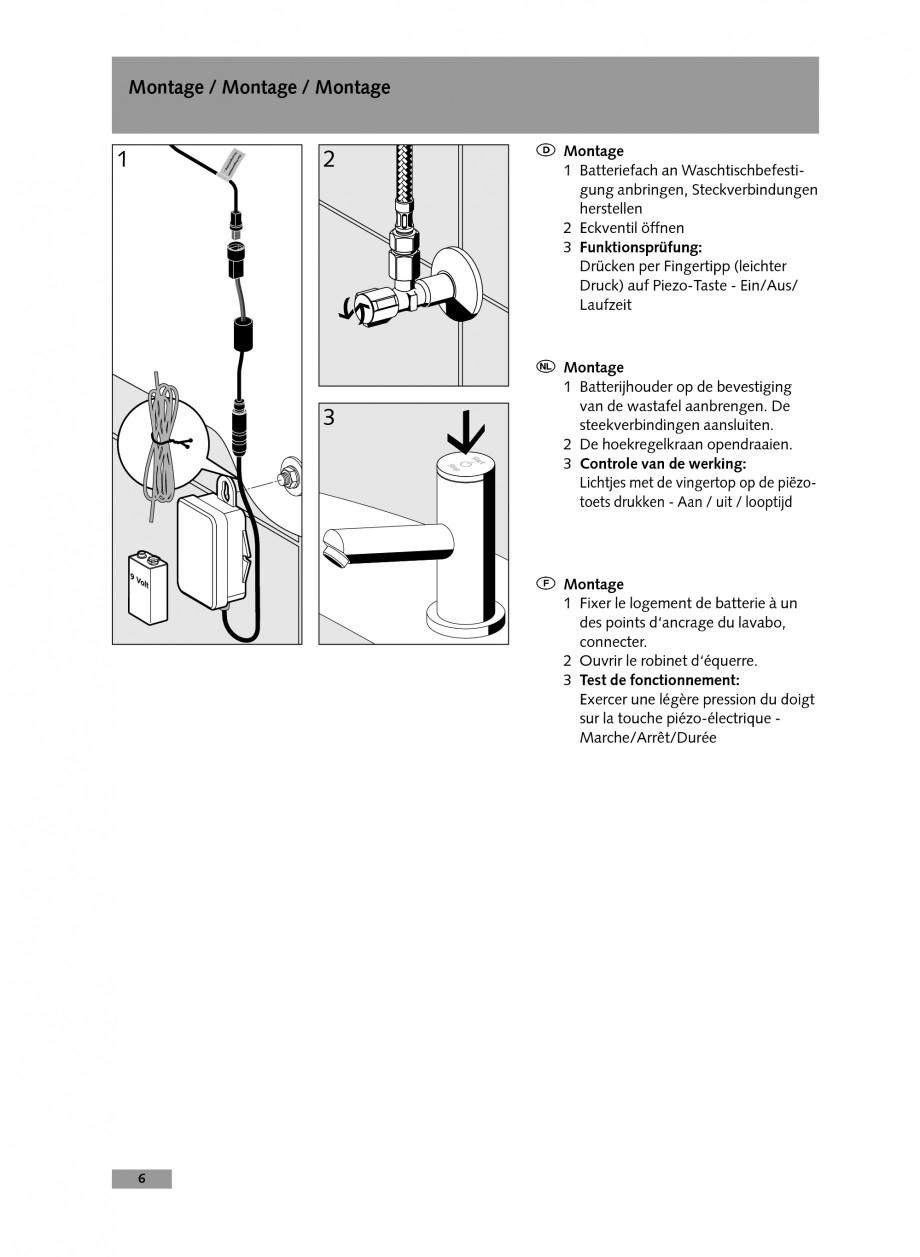 Pagina 6 - Baterie cu temporizare pentru lavoar SCHELL Instructiuni montaj, utilizare Engleza,...