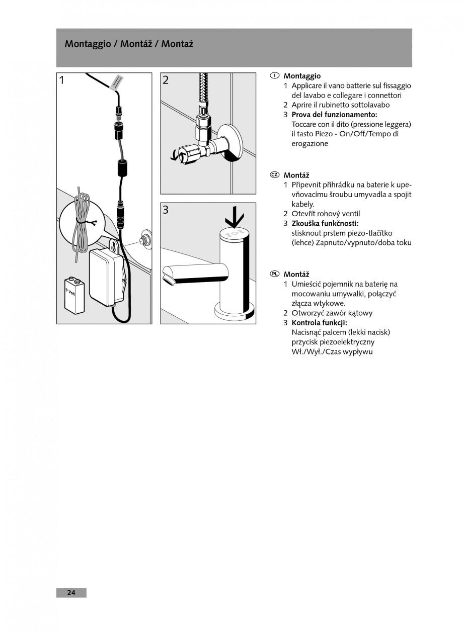 Pagina 24 - Baterie cu temporizare pentru lavoar SCHELL Instructiuni montaj, utilizare Engleza,...
