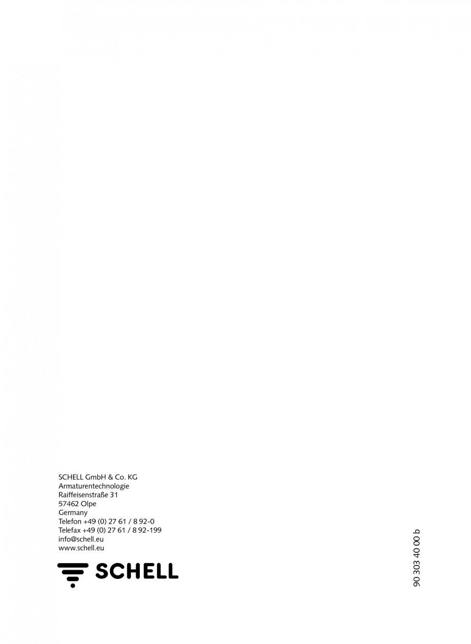 Pagina 36 - Baterie cu temporizare pentru lavoar SCHELL Instructiuni montaj, utilizare Engleza,...
