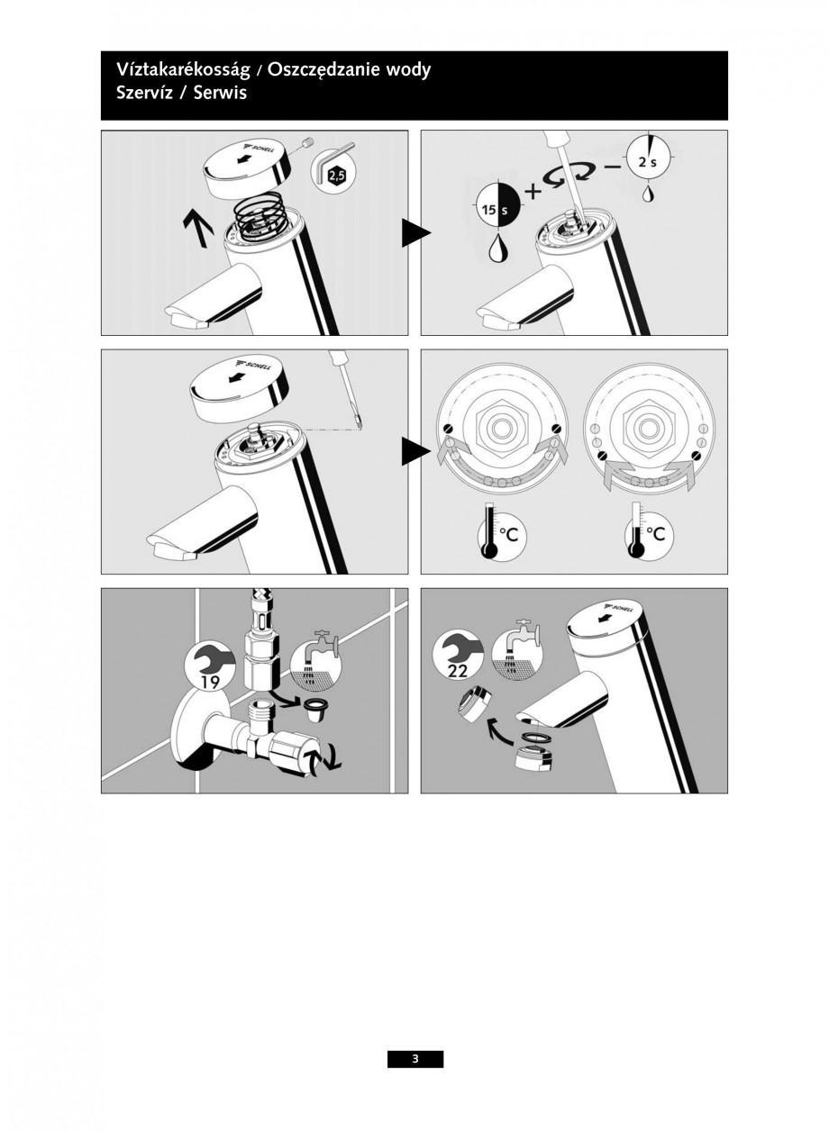 Pagina 3 - Baterie cu temporizare pentru lavoar SCHELL PURIS SC-K, PURIS SC-M Instructiuni montaj,...